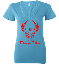 Load image into Gallery viewer, Women's Phoenix Moor Red Phoenix V-Neck Tee - 1