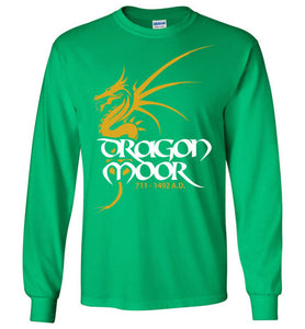 Dragon Moor Long Sleeve Tee - Mayan Gold Dragon