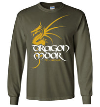 Load image into Gallery viewer, Dragon Moor Long Sleeve Tee - Mayan Gold Dragon