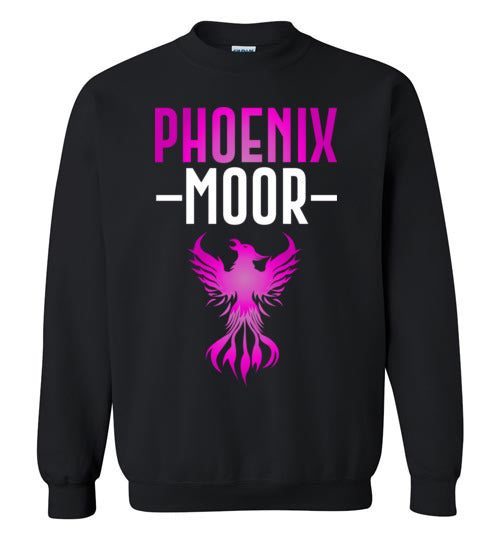 Fire Bird Phoenix Moor Sweatshirt - Royal Violate & White