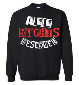 All Rights Reserved Crewneck Sweatshirt - Red & White