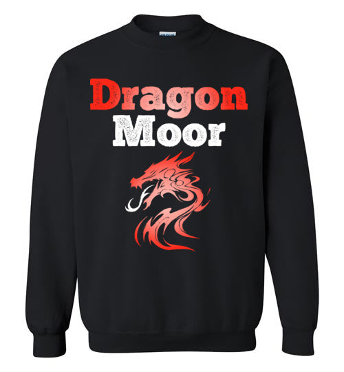 Fire Dragon Moor Crewneck Sweat Shirt - Red & White