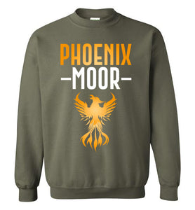 Fire Bird Phoenix Moor Sweatshirt - Gold & White