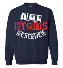 Load image into Gallery viewer, All Rights Reserved Crewneck Sweatshirt - Red & White