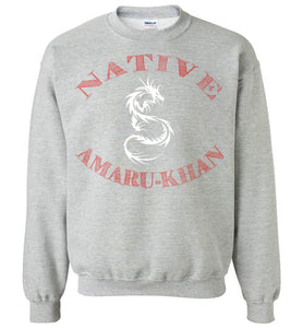 Native Amaru-Khan Sweatshirt - Sunset Red & White