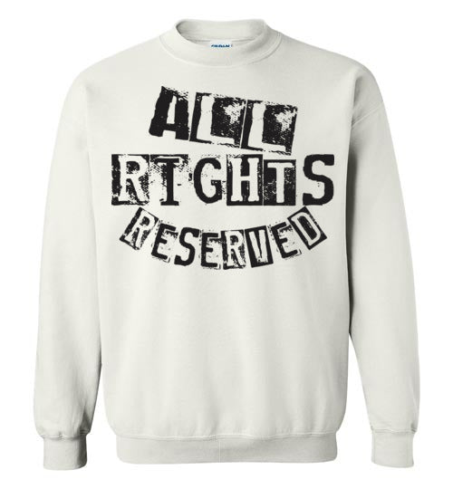 All Rights Reserved Crewneck Sweatshirt - Black