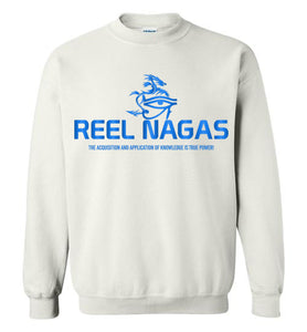 Reel Nagas Crewneck Sweatshirt - Water Nation Blue