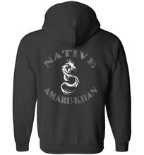 Load image into Gallery viewer, Native Amaru Khan Zip Hoodie White 2 Sided