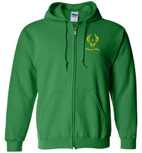 Load image into Gallery viewer, Phoenix Moor Zip Hoodie Gold Phoenix