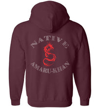Load image into Gallery viewer, Native Amaru Khan Zip Hoodie Red 2 Sided