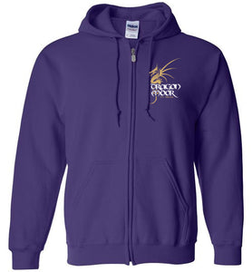 Dragon Moor Zip Hoodie Gold Dragon