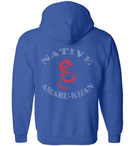 Native Amaru Khan Zip Hoodie Red 2 Sided