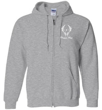 Load image into Gallery viewer, Phoenix Moor Zip Hoodie White Phoenix