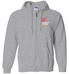 Dragon Moor Zip Hoodie Red Dragon