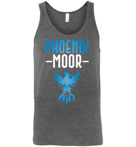 Fire Bird Phoenix Moor Tank - Ocean Blue & White