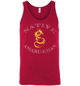 Native Amaru-Khan Tank - Mayan Gold & White