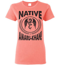 Load image into Gallery viewer, Women's Native Amaru-Khan Tee Black Font - 1