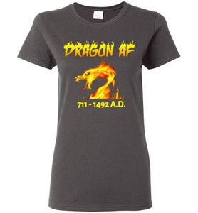Women's Dragon AS F**K Tee - Gold Dragon