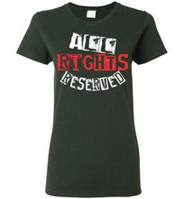 Load image into Gallery viewer, Women's All Rights Reserved Tee - Red & White