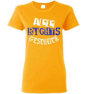 Women's All Rights Reserved Tee - Blue