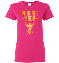 Load image into Gallery viewer, Women's Fire Bird Phoenix Moor Tee - Gold Flame