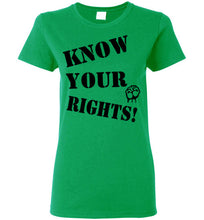 Load image into Gallery viewer, Women's Know Your Rights Tee - Fist