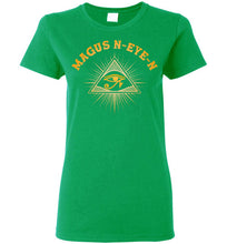 Load image into Gallery viewer, Women's Magus N-eye-N Pyramid Tee - Pharaoh's Gold