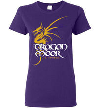Load image into Gallery viewer, Women's Dragon Moor Tee - Mayan Gold Dragon