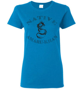 Women's Native Amaru-Khan Black Tee - 1