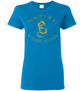 Women's Native Amaru-Khan Tee - Mayan Gold