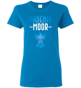 Women's Fire Bird Phoenix Moor Tee - Ocean Blue & White