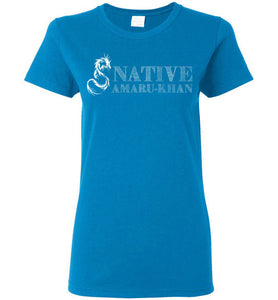 Women's Native Amaru-Khan Tee White Font - 2