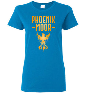 Women's Fire Bird Phoenix Moor Tee - Gold Flame