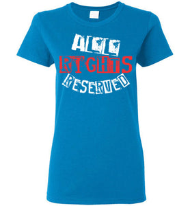 Women's All Rights Reserved Tee - Red & White