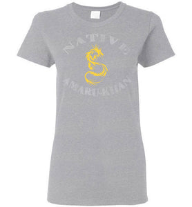 Women's Native Amaru-Khan Tee - Mayan Gold & White