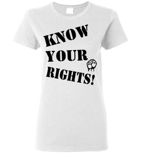 Women's Know Your Rights Tee - Fist