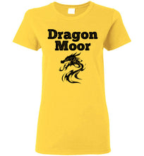 Load image into Gallery viewer, Women's Fire Dragon Moor Tee - Black Dragon