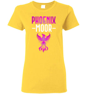 Women's Fire Bird Phoenix Moor Tee - Royal Violate & White