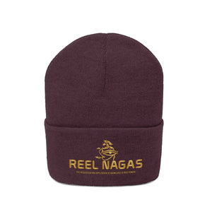 Embroidered Reel Nagas Knit Beanie