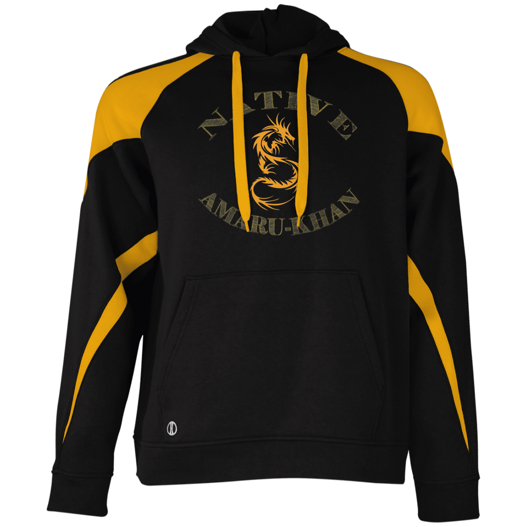 Native Amaru-khan  Colorblock Hoodie  - Mayan Gold