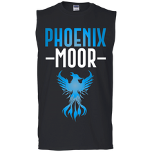 Load image into Gallery viewer, Phoenix Moor Muscle Tank - Water Nation Blue & White