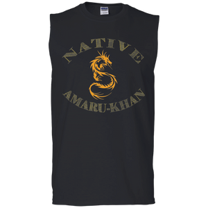 Native Amaru-khan Muscle Tank - Mayan Gold