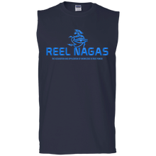 Load image into Gallery viewer, Reel Nagas Muscle Tank - Water Nation Blue