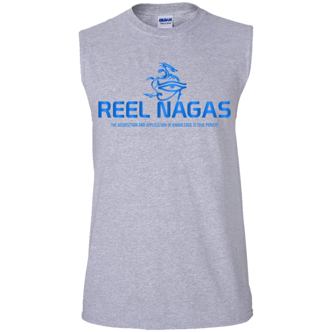 Reel Nagas Muscle Tank - Water Nation Blue