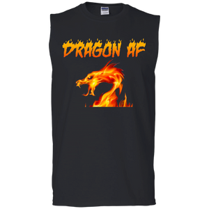 Dragon AS F**K  Muscle Tank - Red Dragon
