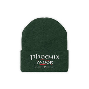 Embroidered Phoenix Moor Beanie - Red & White