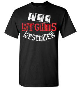 All Rights Reserved Tee - Red & White