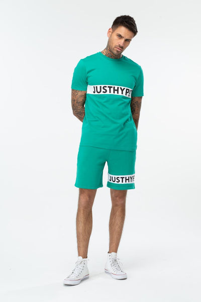 HYPE TEAL JUSTHYPE PANEL MENS T-SHIRT