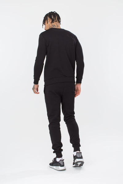 HYPE BLACK SCRIPT MEN'S CREWNECK