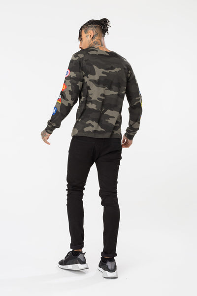 HYPE CAMO PATCHES MEN'S L/S T-shirt